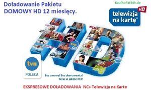 12m. Domowy  TELEWIZJA NA KARTĘ  NC+  Doładowanie EXPRES Aufladung TnK TV Polska