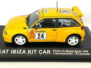 1:43 Scale Altaya De Agostini Seat Ibiza Kit Car Rally Car - T Gardemeister 1999