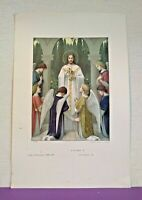 Vintage French Baptism Communion Confirmation Certificate Unused   A1202