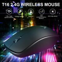 Wireless Optical USB Rechargeable Silent Backlit Gaming Mice Mouse For Laptop PC