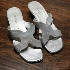 Vaneli Shoes 8.5 Silver Slip On Low Heel made in Italy