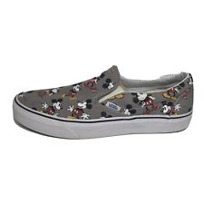 Rare 2015 Vans X Disney Mickey Mouse Classic Slip On Sneakers Gray Mens 10M