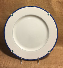 """Mikasa Cayman 12"""" Round Platter Chop Cake Plate L5560 White Blue Green Excellent"""