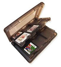 24 x TRANSPARENT BLACK GAME CARD CASE HOLDER for NINTENDO 3DS DS DSi SD CARTS UK
