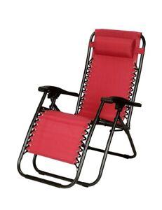 Stuhl/Liegestühle/Kinderbett Liege Mit Fußstütze Zero Gravity - Rot