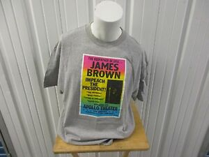VINTAGE SUPREME X JAMES BROWN F/W 2006 XL GRAY T-SHIRT PRE-OWNED