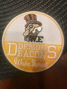"Wake Forest Demons Vintage Embroidered Iron On Patch 3"" X 3"""