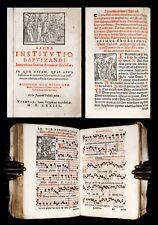 1573 Renaissance CATHOLIC LITURGY Manual EXORCISM RITUAL Church Music * WOODCUTS