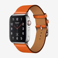 NEW Apple Watch Series 4 Hermes 44mm Feu Epsom Leather Single Tour BNIB