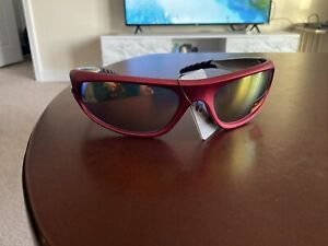 X Loop Mens Sunglasses Rounded Shape Red & Silver (Great For Snow Season)