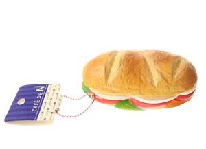 NIC Cafe de N Tomato Cheese Baguette Panini Rare Kawaii Squishy Jumbo Keychain