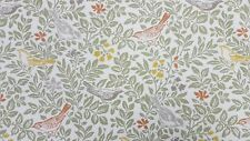 Clarke and Clarke Bird Song Autumn Curtain Upholstery Craft Designer Fabric