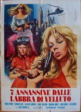 DANGER GIRLS Italian 2F movie poster 39x55 EUROSPY 1969 Rare