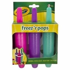Crayola freez'r pops Freezer Pops BPA Free Set of 3 Crayon Icicle Popsicle Molds