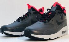 New Nike Air Max 90 Ultra Mid Winter Black Solar Red Grey Mens Sz 10 924458-003