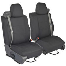 Front Pair - Custom Charcoal Gray Cloth Seat Covers for Ford F-150 2004-08