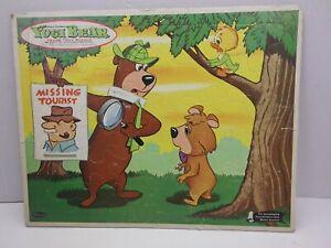 Vtg 1963 Yogi Bear - Frame Tray Inlaid Puzzle - Hannah Barbara - Boo Boo      B5