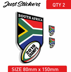 South African rugby flaf sticker decal