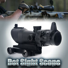 Red Green Tactical 1 X 32 Dot Sight Scope with 20mm Weaver Rail Mount for Rifle