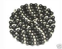 "YBN Bicycle Chain 1/2""x1/8""x 112 Links Black & Chrome BMX Lowrider Bikes 123144"