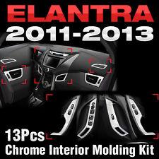 Chrome Interior Air Duct Window Switch Molding C360 For HYUNDAI 2011-13 Elantra