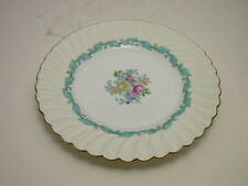 """Minton Ardmore Salad Plate Ivory Turquoise Gold Trim 7 3/4"""" D ca 1939-1974"""