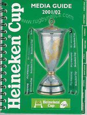 EUROPEAN 'HEINEKEN' CUP RUGBY MEDIA GUIDE 2001/02 LEICESTER WINNERS