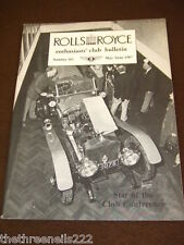 ROLLS ROYCE ENTHUSIASTS BULLETIN #162 - MAY 1987 STAR OF CONFERENCE