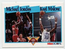 Michael Jordan Karl Malone 1991 NBA HOOPS League Leader Scoring Basketball Card