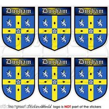 DURHAM COUNTY Britain England Shield Mobile Cell Phone Mini Stickers, Decals x6