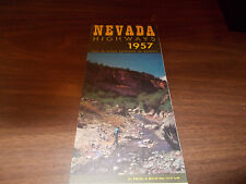 1957 Nevada State-issued Vintage Road Map