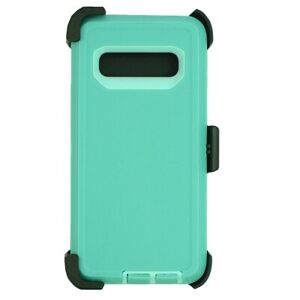 For Samsung Galaxy S10+ Plus Case Cover W/Clip Fits Otterbox Defender Teal