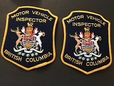 """Patches Lot (2) Motor Vehicle Inspector British Columbia (New) 4.5""""BC Canada"""