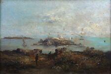 Pierre DECOREIS (1834-1902) Vue de Toulon ? Ollioulles Paulin Bertrand marine