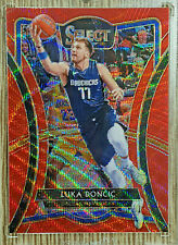 2019-20 Panini Select Tmall Luka Doncic Premier Level Red Wave Prizm 🏀 🔥
