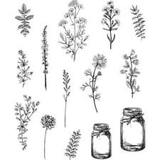 Tim Holtz Cling Rubber STAMPS - Flower Jar Cms297