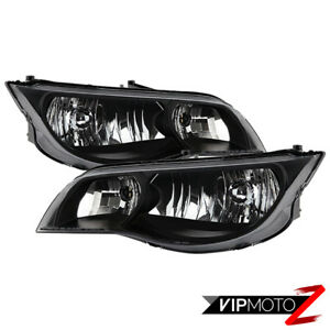 2003-2007 Saturn ION Coupe {FACTORY STYLE} Pair Black Headlights Lamps Assembly