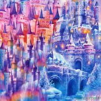 "FQ R. Kaufman Picture This Rainbow Castles Cotton Fabric 18""Lx21""W-BTFQ"