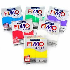 FIMO Effect Polymer Oven Modelling Clay - 57g - Set of 6 - Transparent Finish