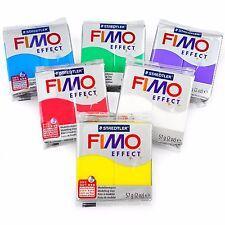 FIMO Effetto Polimero FORNO modellazione argilla - 57g-Set di 6-FINITURA TRASPARENTE