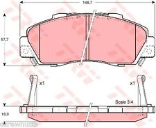 Honda Accord, CR-V HR-V,Integra, NSX, Prelude Brake Pads (Front) TRW - GDB3177