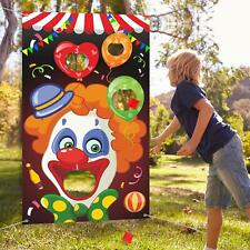 LUO'S CLOWN BEAN BAG TOSS GAMES Funny Carnival Party Activities Indoor/Outdoor