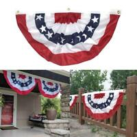 Semicircle American Flag Bunting Wall Decor Flag American 18'' x 36''