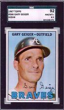 1967 Topps #566 Gary Geiger Outfield Atlanta Braves SGC 92 NM-MT Plus