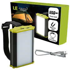 Portable 4400mAh 330lm LED Lantern Light Power Bank + Charger Power Tent Camping