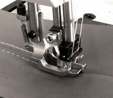 """New Double Needle Walking Foot With Spring Loaded Ctr. Guide 3/8"""" Guage Foot Set"""