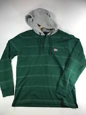 "Stussy Mens Green/Grey Hoodie ""Hooded Heavy Jersey"" size small"