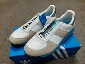 NOS Deadstock 2005 ADIDAS BW Navy Athletic Leather Sneaker Shoes WHT 10 1/2 10.5