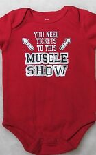 Infant 3 - 6 Months Red One Piece You Need Tickets To This Muscle Show