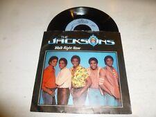 "THE JACKSONS - Walk Right Now - 1981 UK 7"" 2-track vinyl single"